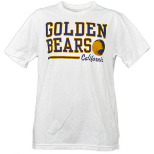 NCAA California Golden Bears White Underline Logo Mens Tshirt Tee Short Sleeve