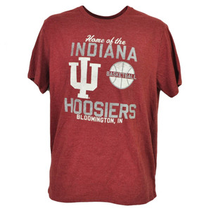 NCAA Indiana Hoosiers Basketball Burgundy Mens Tshirt Tee Bloomington IN Sports