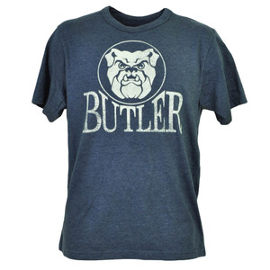 NCAA Butler Bulldogs Navy Blue Tshirt Tee Mens Short Sleeve Crew Neck Sports