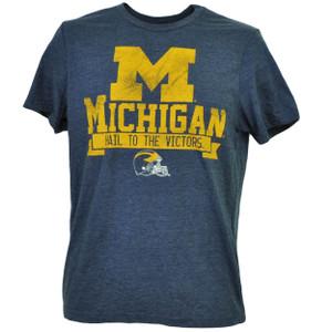 NCAA Michigan Wolverines Navy Blue Hail To The Victors Mens Tshirt Tee Sports