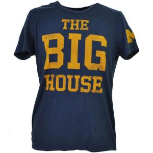 NCAA Michigan Wolverines Navy Blue The Big House Tshirt Tee Mens Short Sleeve