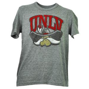 NCAA UNLV Rebels Nevada Las Vegas Felt Logo Tshirt Tee Mens Short Sleeve Gray