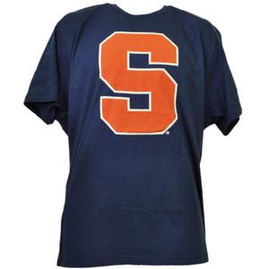 NCAA Syracuse Orange Navy Blue Tshirt Tee Mens Short Sleeve Crew Neck Sports