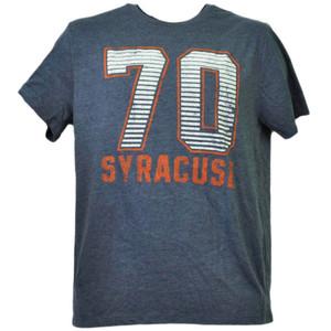 NCAA Syracuse Orange Felt 70 Tshirt Tee Mens Blue Short Sleeve Crew Neck Sports