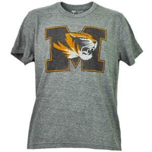 NCAA Missouri Tigers Distressed Logo Short Sleeve Tshirt Tee Mens Crew Neck Gary