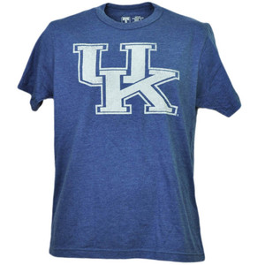 NCAA Kentucky Wildcats Distressed Logo Blue Tshirt Tee Mens Short Sleeve Sports