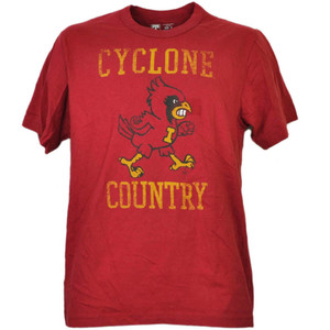 NCAA Iowa State Cyclones ISU Country Red Tshirt Tee Mens Short Sleeve Sports