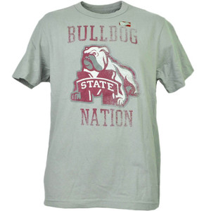 NCAA Mississippi State Bulldogs Nation Mens Adult Tshirt Tee Short Sleeve Sports