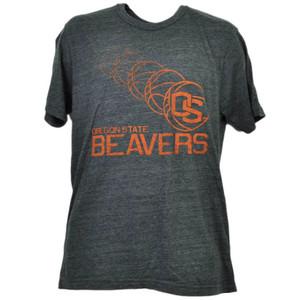 NCAA Oregon State Beavers Repeat Logo Tshirt Tee Gray Short Sleeve Mens Adult