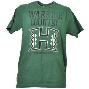 NCAA Hawaii Warriors Country Football Tshirt Tee Green Mens Adult Short Sleeve