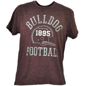 NCAA Mississippi State Bulldogs Helmet Football Burgundy Tshirt Tee Mens 1895
