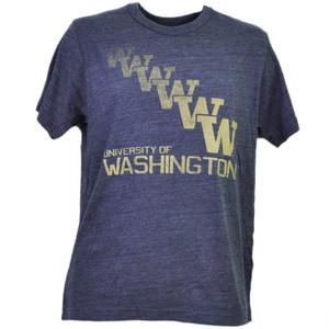 NCAA Washington Huskies Repeat Logo Purple Mens Tshirt Tee Short Sleeve Sports