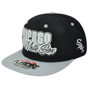 MLB American Needle Chicago White Sox Fusion Angler Snapback Flat Bill Hat Cap