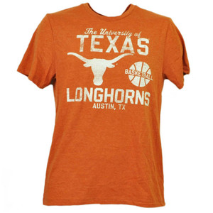 NCAA Texas Longhorns Basketball Mens Tshirt Tee Orange Short Sleeve Austin TX