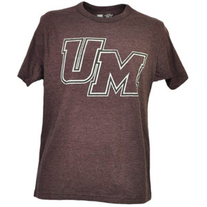 NCAA Massachusetts Minutemen UMass Burgundy Tshirt Tee Mens Adult Short Sleeve