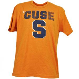 NCAA Syracuse Orange Cuse Distressed Logo Mens Tshirt Tee Orange Short Sleeve