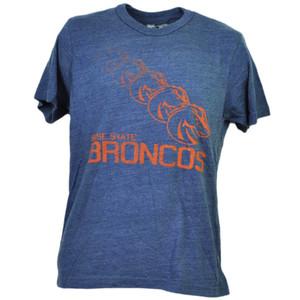 NCAA Boise State Broncos Repeat Logo Short Sleeve Mens Adult Blue Tshirt Tee