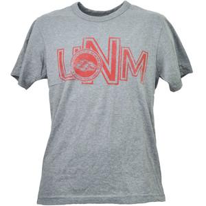 NCAA New Mexico Lobos UNM Gray Tshirt Tee Short Sleeve Mens Adult Crew Neck