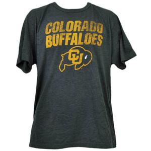 NCAA Colorado Buffaloes Distressed Logo XLarge Tshirt Tee Mens Adult Sports