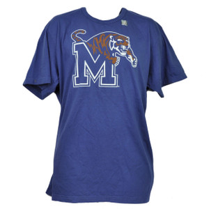NCAA Memphis Tigers Blue Tshirt Tee 2XLarge Mens Short Sleeve Crew Neck Sports