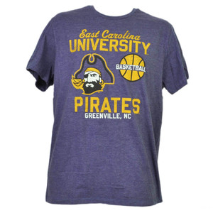 NCAA East Carolina Pirates ECU Basketball Large Greenville NC Purple Tshirt Tee