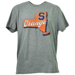 NCAA Syracuse Orange State Logo Gray Crew Neck Mens Tshirt Tee Large Sports