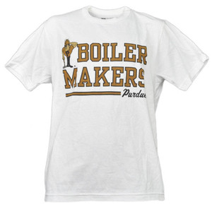 NCAA Purdue Boilermakers White Underline Logo Mens Tshirt Tee Short Sleeve Medium