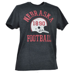 NCAA Nebraska Cornhuskers Medium Tshirt Tee Short Sleeve Crew Neck Charcoal