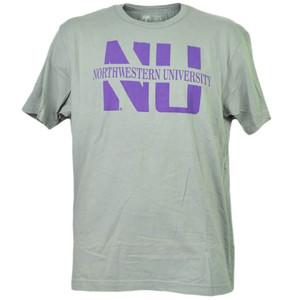 NCAA Northwestern Wildcats Medium Tshirt Tee Mens Adult Gray Short Sleeve Sports
