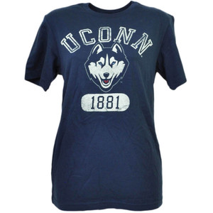 NCAA UConn Huskies Connecticut Distressed Tshirt Tee Mens XLarge XL Navy Blue