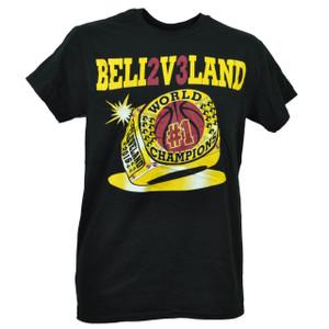 NBA 2016 Champions Cleveland Cavaliers Beli2V3Land Black Mens Tshirt Tee Ring