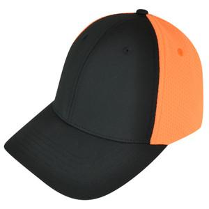 American Needle Blank Two Tone Sportswear Black  Plain Curved Bill Hat Cap