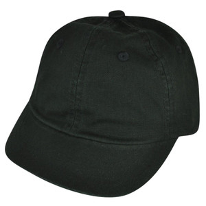 American Needle Blank Black Ladies Relaxed Fit Fatigue Sun Buckle Curved Hat Cap