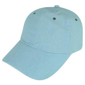 American Needle Blank Blue Relaxed Ladies Fit Sun Buckle Curved Bill Hat Cap