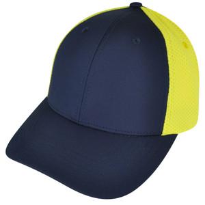 American Needle Blank Two Toned Sportswear Blue  Plain Curved Bill Hat Cap