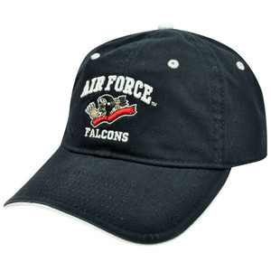 HAT CAP AIR FORCE FALCONS BAD BONE SKELETON PILOT NAVY BLUE GAME LICENSED NCAA