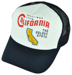 American Needle California The Golden State Foam Panel Mesh Snapback Hat Cap