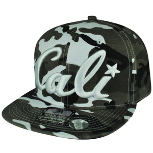 8a493ed6083 California Republic Cali Green Artic Camo Snapback Flat Bill Hat Cap State  City