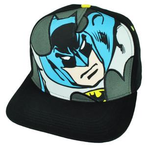 Batman Sublimated Snapback Cartoon Dark Knight Movie DC Comics Flat Bill Black