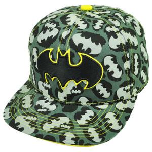 Batman Snapback Cheetah Logo Gray Flat Bill Hat Cap Super Hero Cartoon Movie