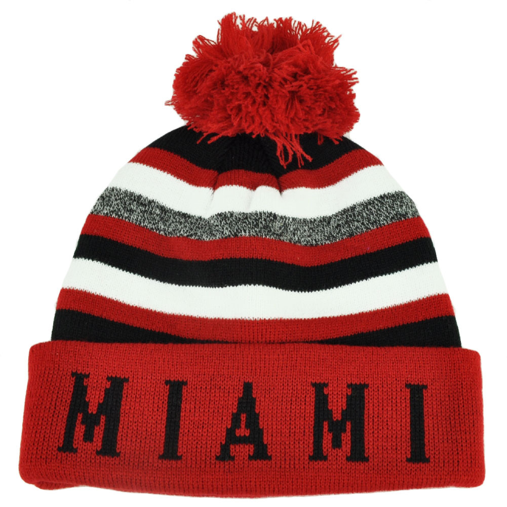 07dfbc6c268dc ... Cuffed Toque Red White City State Town Beanie Knit Striped Skully. Your  Price   16.95 (You save  11.05). Image 1