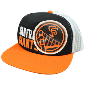 MLB American Needle Felt Applique Snapback Mesh Hat Cap San Francisco Giants