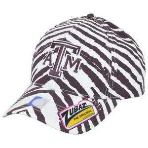 NCAA Texas A&M Aggies ATM Top of the World Smash Zubaz Zebra Snapback Hat Cap