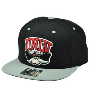 NCAA Starter UNLV Nevada Las Vegas Rebels Snapback Black Gray Hat Cap Flat Bill