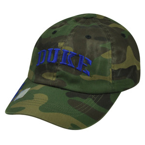 NCAA Duke Blue Devils Camouflage Camo Sun Buckle Relaxed Slouch Hat Cap Green