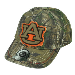 NCAA Auburn Tigers OC Sports  Real Tree Camouflage American Flag Hat Cap