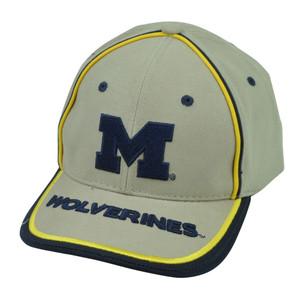 NCAA Michigan Wolverines Beige Sun Buckle Hat Cap Adjustable Sport Signatures