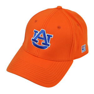 NCAA Auburn Tigers The Game Fitted Hat Cap Size Medium Orange Stretch Sport AU