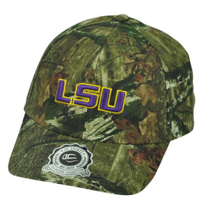 NCAA Louisiana State LSU Tigers Mossy Oak Sun Buckle Camouflage Camo Hat Cap