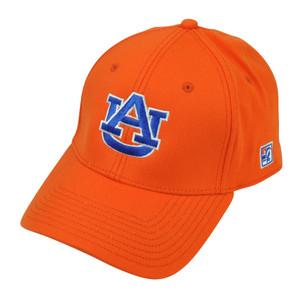 NCAA Auburn Tigers The Game Fitted Hat Cap Size XLarge Orange Stretch Sport AU